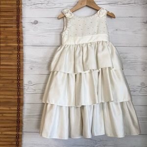 Cinderella Formal Beaded Dress Wedding Flower Girl